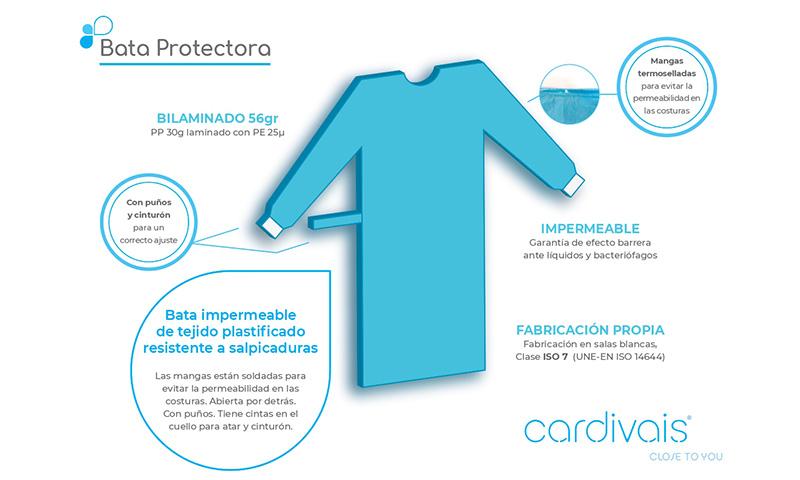 Desde el PTA la empresa Cardivais fabrica batas de protección sanitaria con sello español