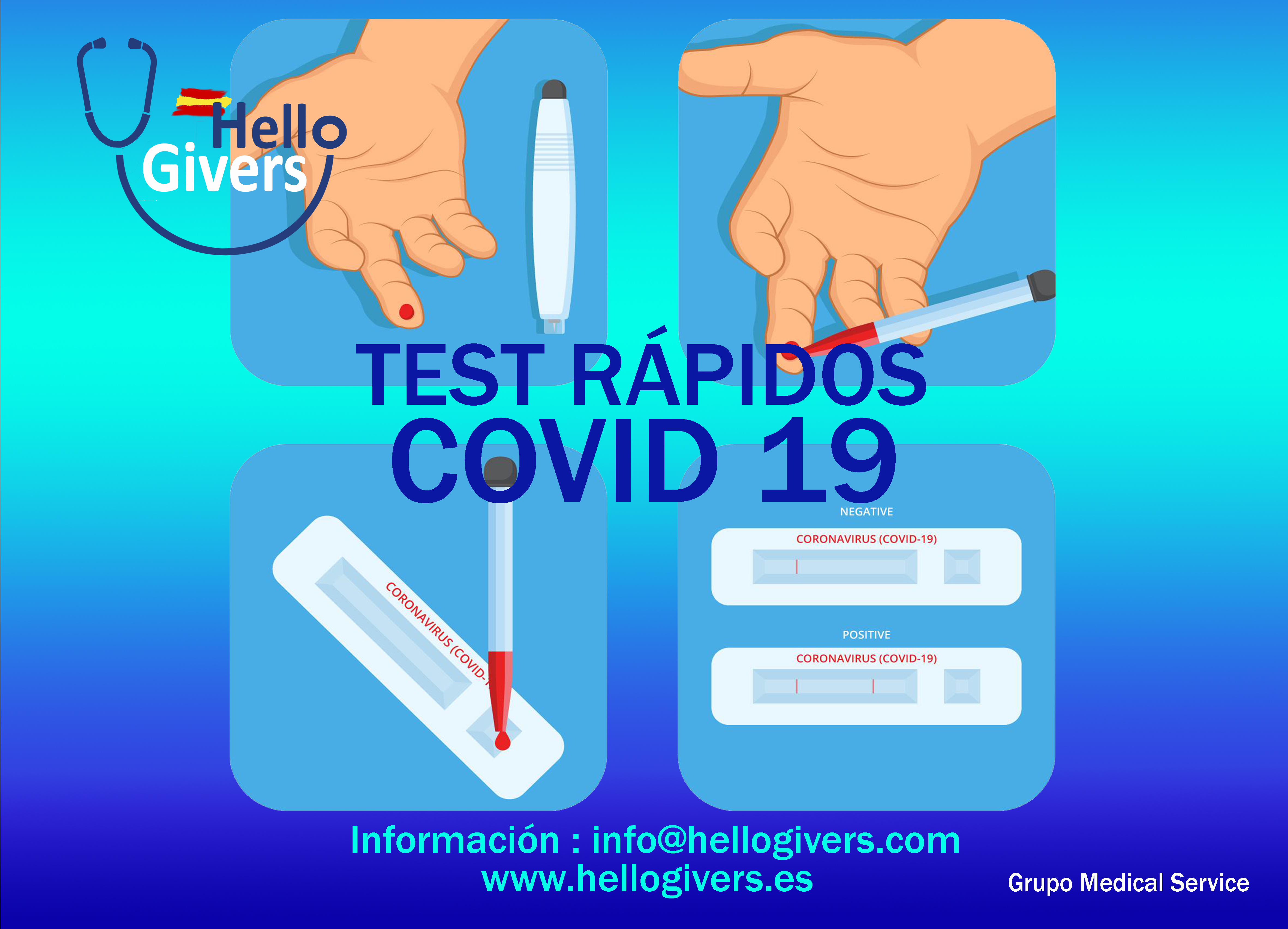 Hello Givers, del grupo Medical Service , pionera en ofrecer los test rápidos a empresas con personal de enfermería