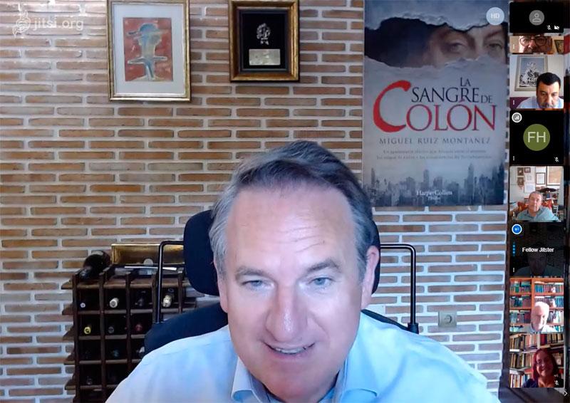 """Miguel Ruiz Montañez, autor del nuevo superventas """"La sangre de Colón"""", en videoconferencia con la Tertulia del Congreso de Málaga"""
