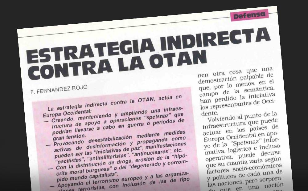 La extrema izquierda y sus políticas, analizadas en la revista Ejército en 1988