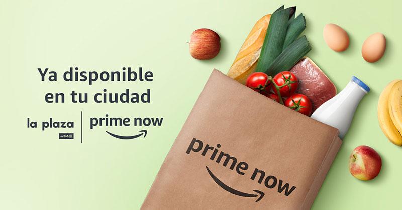 Amazon.es y DIA amplían el servicio Prime Now a Málaga y alrededores