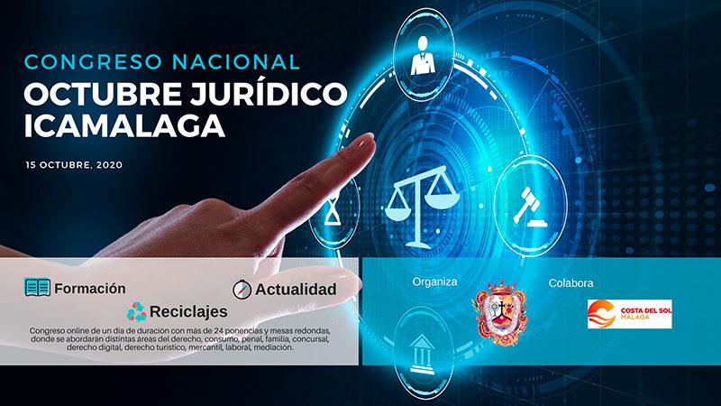 El Colegio de Abogados de Málaga celebra el 15 de octubre el congreso nacional online 'Octubre Jurídico ICAMALAGA'