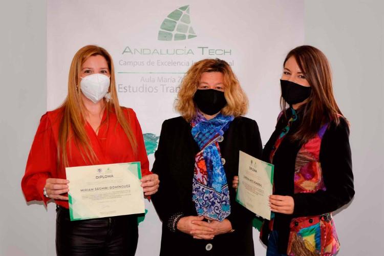 Lorena Arce y Miriam Seghiri reciben el II Premio George Campbell del Aula María Zambrano de Estudios Transatlánticos