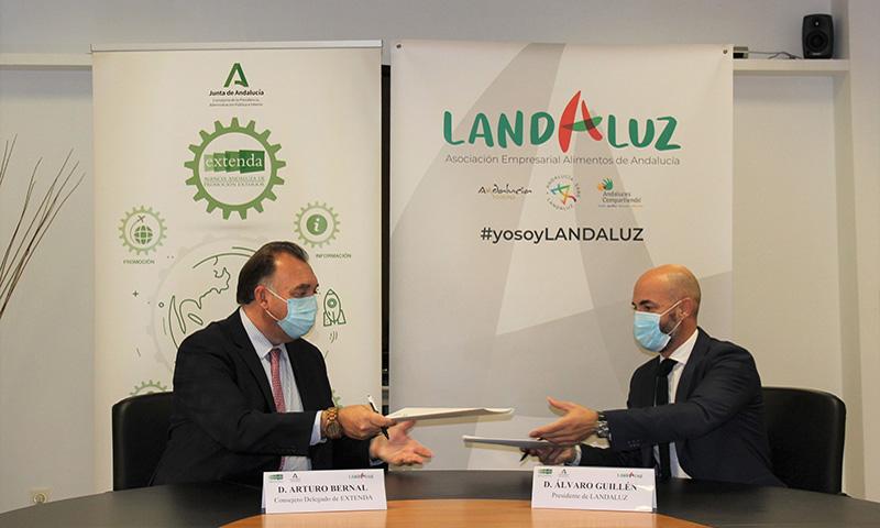 Extenda y Landaluz firman un acuerdo de colaboración para impulsar la internacionalización del agroalimentario andaluz