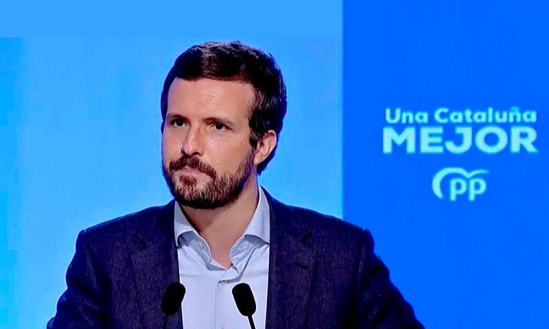 Casado nuevamente cuestionado por su batacazo electoral en Cataluña