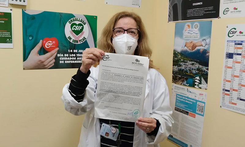 CSIF Málaga reclama al SAS la cobertura del puesto de coordinador de TCAE en los centros hospitalarios