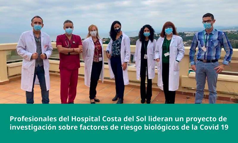 Profesionales del Hospital Costa del Sol lideran un proyecto de investigación sobre factores de riesgo biológicos de la Covid 19