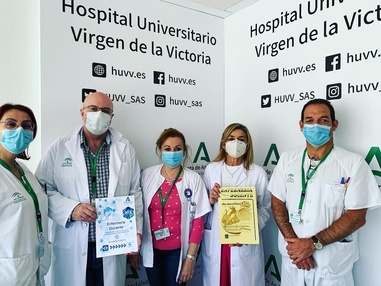 Profesionales de Enfermería del Hospital Virgen de Victoria recuperan una revista con 37 años de historia
