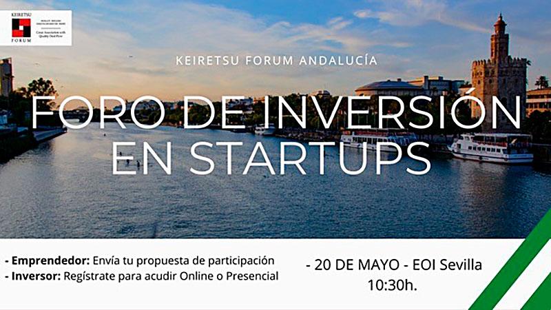 Presenta tu startup al Foro de Inversores Keiretsu Fórum Andalucía