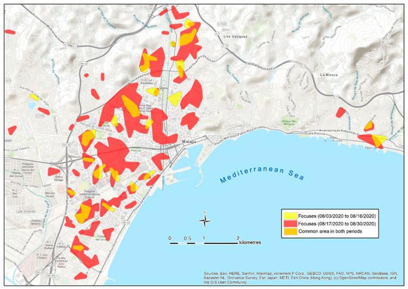 Un estudio de la UMA demuestra que los focos vecinales son una vía de contagio de Covid-19