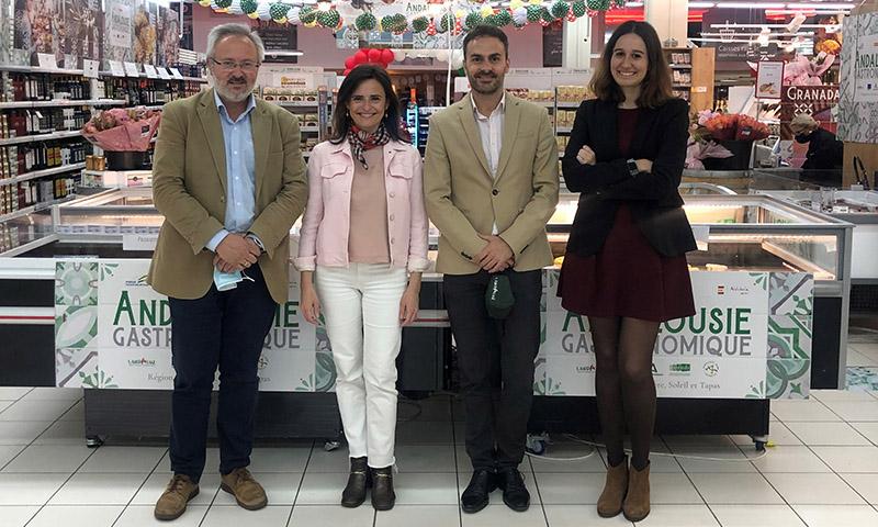 Extenda y Landaluz impulsan la presencia de alimentos de Andalucía en Système U, el segundo grupo de gran distribución de Francia en 2021