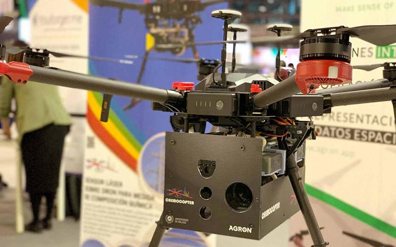 Diseñan un sensor láser sobre dron para medidas de composición química a distancia
