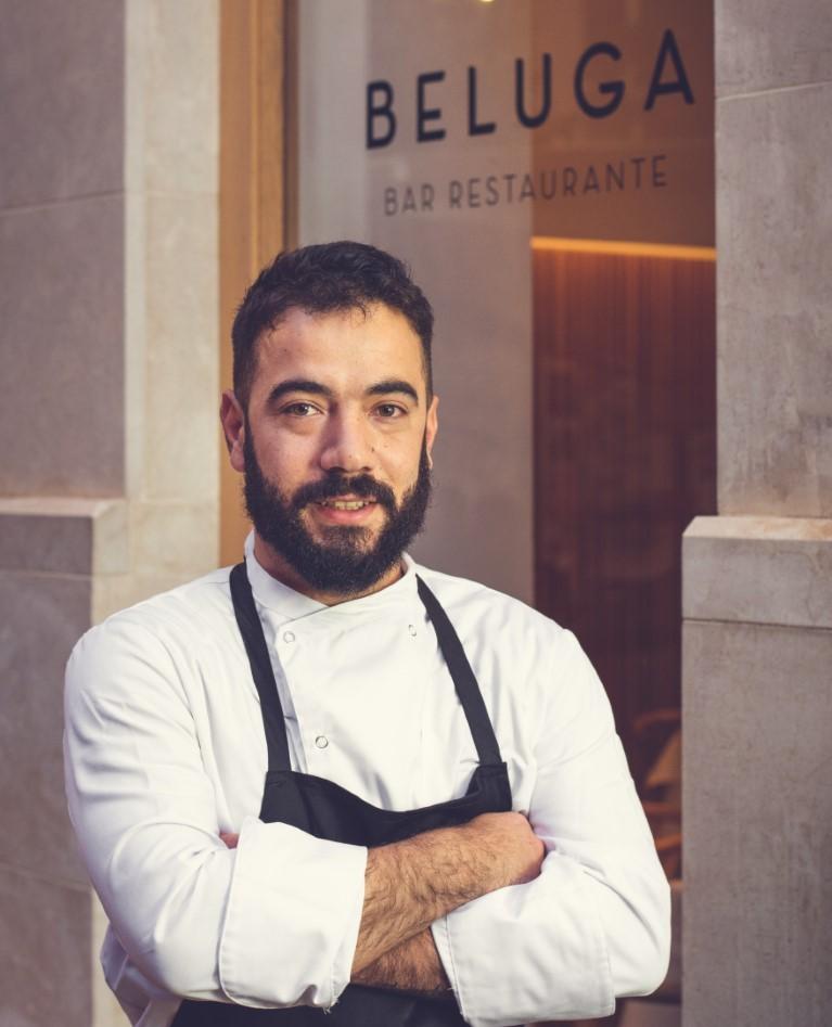 Entrevista con Diego René, chef del restaurante Beluga, en Plaza de las Flores de Málaga