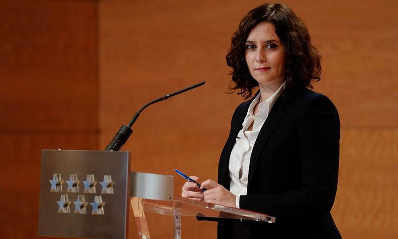 La presidenta de Madrid contra los impuestos de su Comunidad