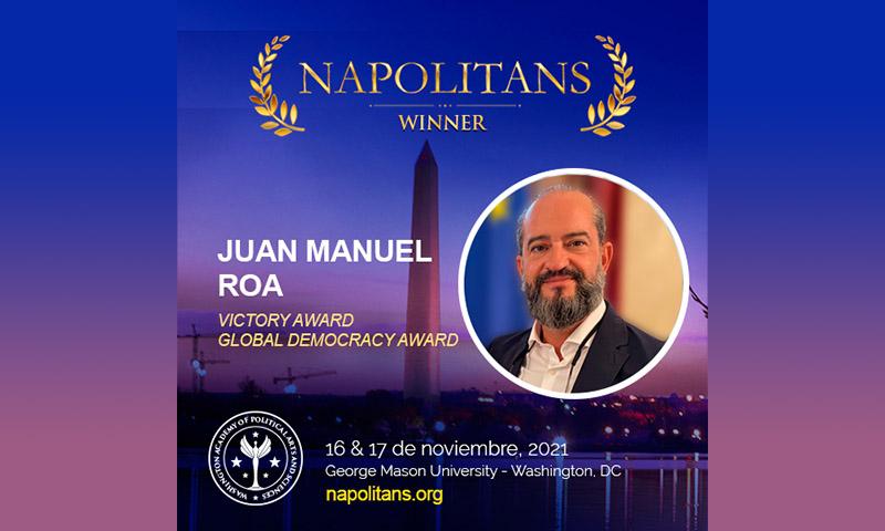 Premio internacional al fundador de Dyntra, el politólogo español Juan Manuel Roa